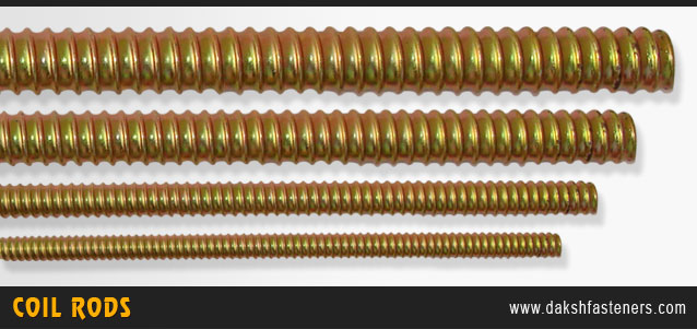 coil rods - tie rods - construction coil rod  manufacturers exporters india