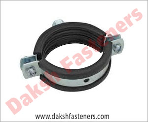 pipe clamps with rubber lining - strut clamps  manufacturers exporters india