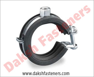 cushioned pipe clamp - strut clamps  manufacturers exporters india